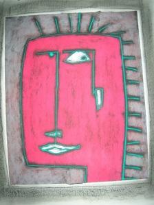 Punk Study, Pastel:Paper, H Margret