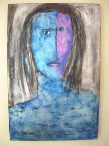 Self Portrait, Acrylic:Canvas, H Margret
